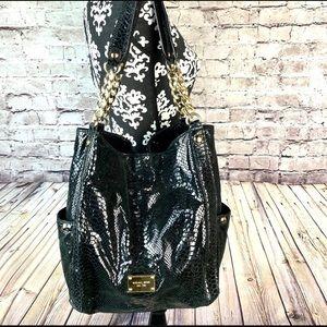 Michael Kors Python Jet  Medium Chain Bag